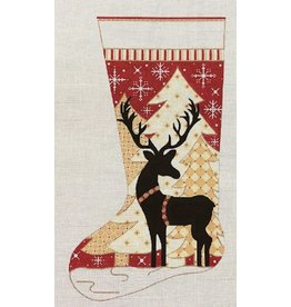 "Alice Peterson Reindeer in Trees Stocking<br /> 11"" x 19"""