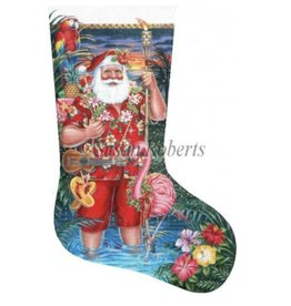 Susan Roberts Tropical Santa stocking