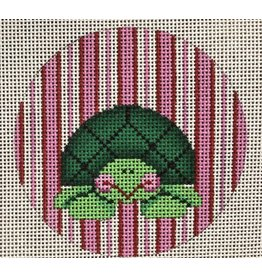 Patti Mann Turtle with pink stripes