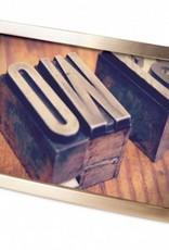 """Matte Brass Senza Frame: 4""""x6"""""""