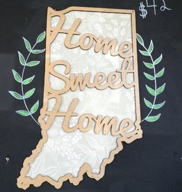 Home Sweet Home Indiana Cut Out