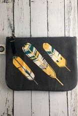 Large Canvas Chirp Zip Bag