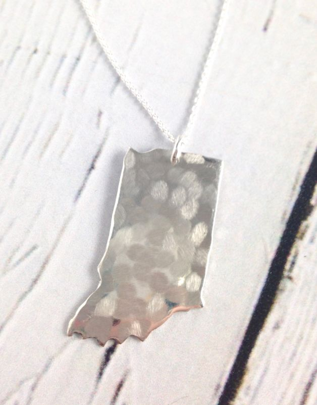 Handstamped Hammered Indiana Necklace