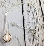 Handmade Sterling Wrapped White Coin Pearl Necklace