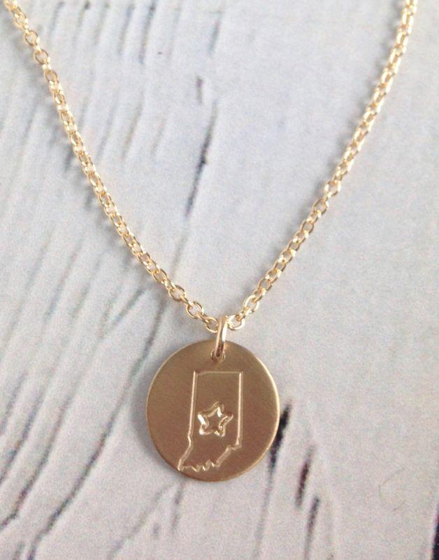 Handstamped Star Indiana Gold Filled
