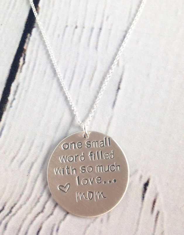 in necklace mom word one city silver saraleathers handstamped the