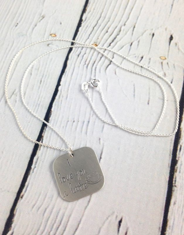 Handstamped Love You a Latte Necklace