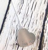 Handstamped Love You Heart