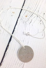 Handstamped Hope Anchors the Soul Necklace