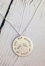 Handstamped Mom Angel Necklace