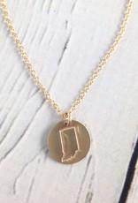 Handstamped Gold Filled Indiana