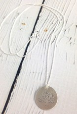 Handstamped Tree Necklace