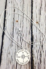Handstamped Not All Who Wander Are Lost Necklace