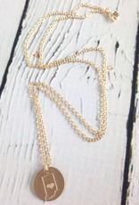 Handstamped Gold Filled Indiana Striped Heart
