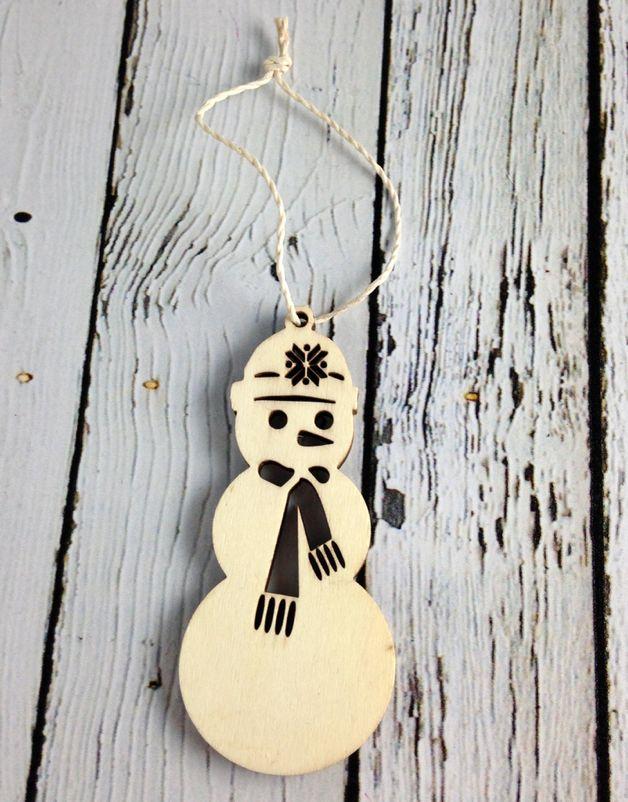 Nordic Snowman Ornament