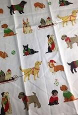 Holiday Pups Tea Towel