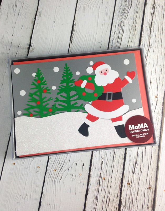 moma santas wagon boxed holiday cards