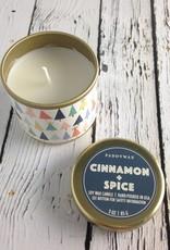 Cinnamon + Spice 3oz Decorative Tin Candle