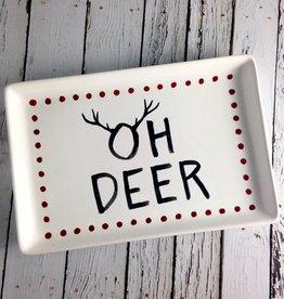 "10""L X 6-3/4""w Dolomite Oh Deer plate"