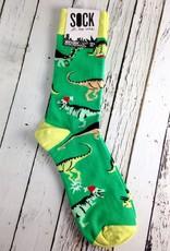 Santa Rex Men's Crew Socks