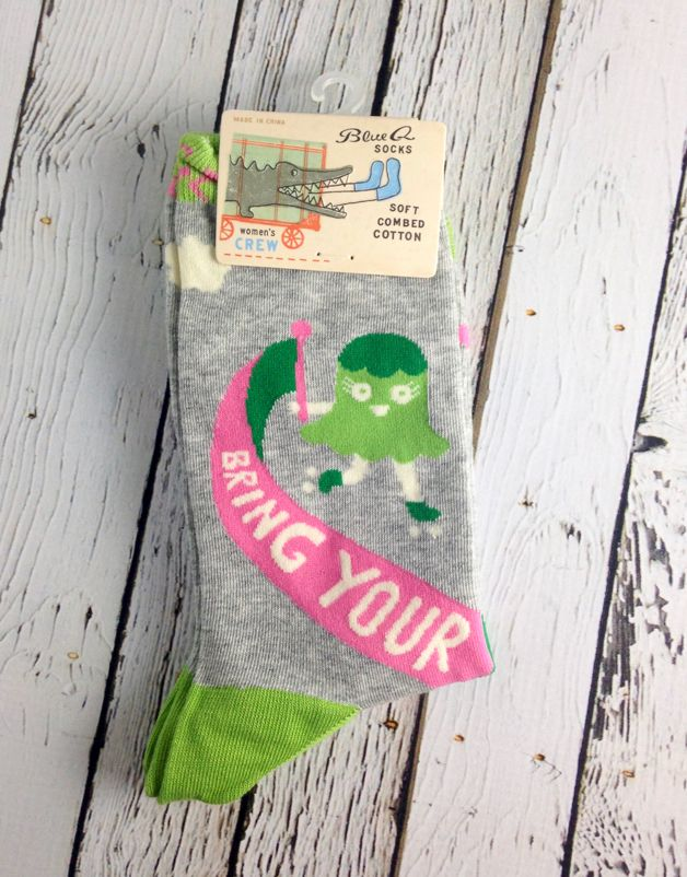 Bring Wine To Work Women's Crew Socks