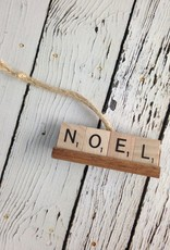 NOEL Scrabble Tile Ornament