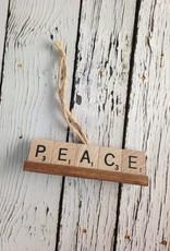 PEACE Scrabble Tile Ornament