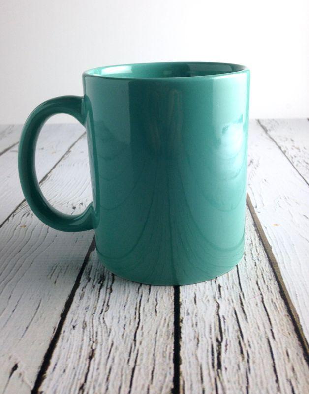 Teal Indiana Heart Mug