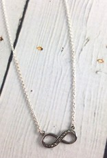 Sterling Silver and Marcasite Infinity Necklace
