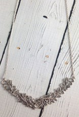 "Sterling Silver and Marcasite 18"" Necklace"