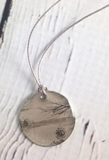 "Sterling Litho ""Lakeview"" Necklace"