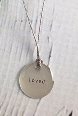 "Loved Mini Type Necklace on 16"" Cord"