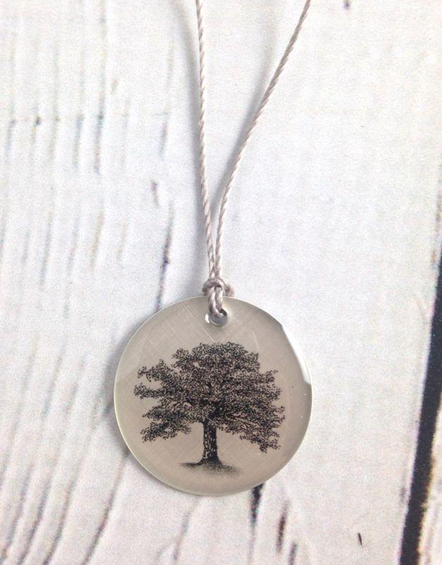 """Sterling Silver """"Oak Tree"""" Necklace"""
