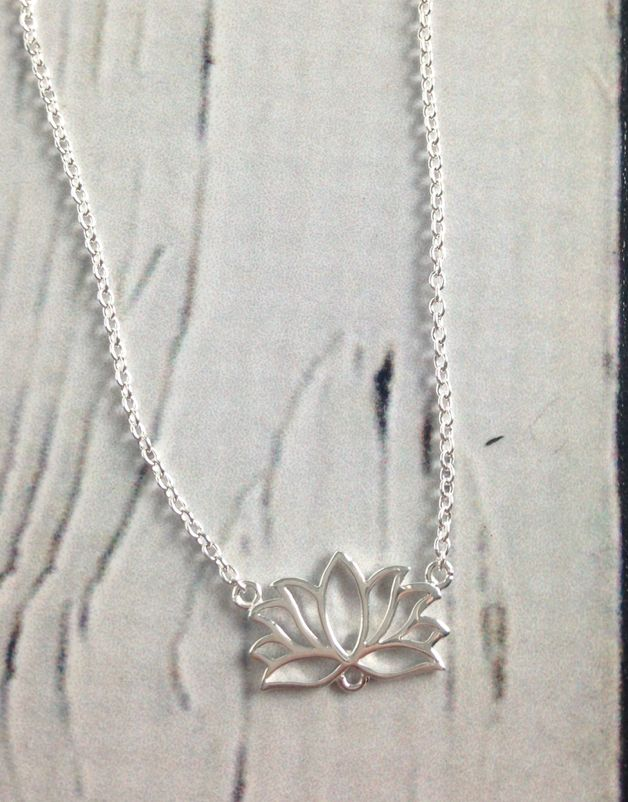 Sterling Silver Tiny Lotus Necklace