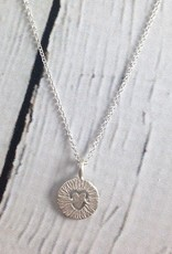 """Handmade Sterling Silver Necklace with Maya Angelou """"Love Life"""" Quote"""
