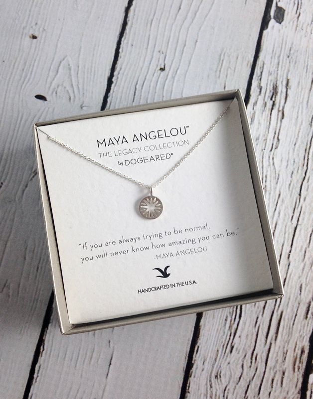 Silver Quote | Handmade Sterling Silver Necklace With Maya Angelou Normal Amazing