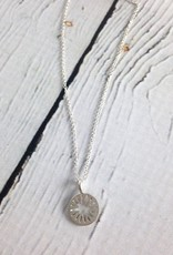 """Handmade Sterling Silver Necklace with Maya Angelou """"Normal Amazing"""" Quote"""