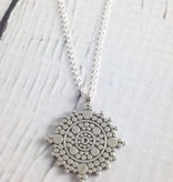 Silver Balance Mandala Necklace