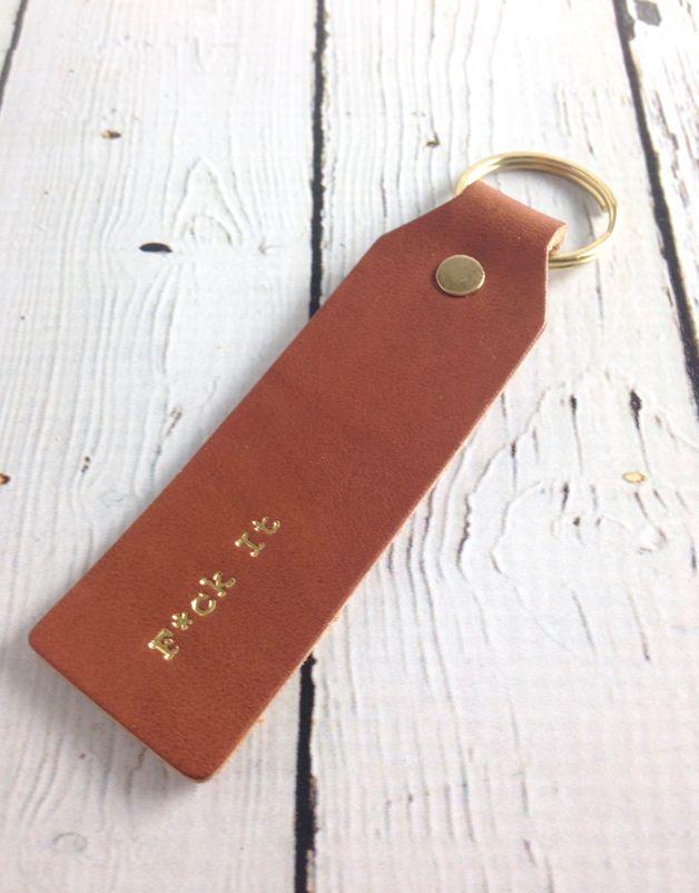 Gold Foil F*ck It Keychain