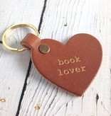 Gold Foil Book Lover Heart Keychain