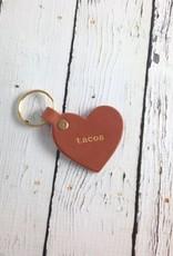 Gold Foil Tacos Heart Keychain