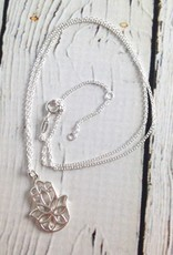 Sterling Silver Hasma Necklace