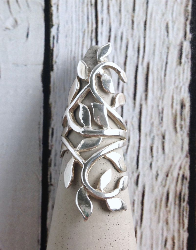 Sterling Silver Climbing Vine Ring, size 6