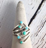 Dancing Turquoise Ring, Size 7