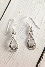 Sterling Silver and Marcasite Infinity Dangle Earrings