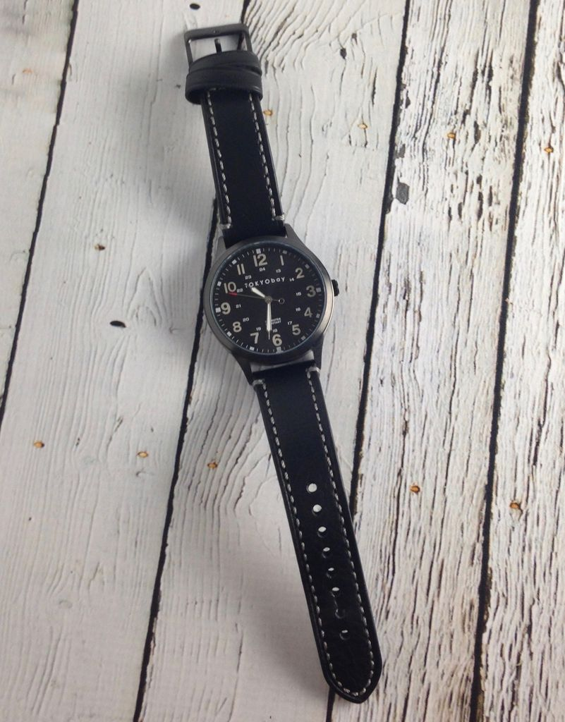 Mason Watch by Tokyo Bay, Black with Black Metal Dial