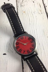 Track Carbon Watch Red