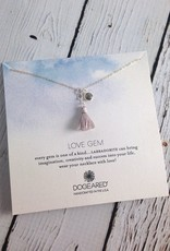 Love Gems Labradorite Necklace with Grey Silk Tassel