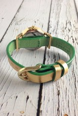 Lily Watch Green with Gold
