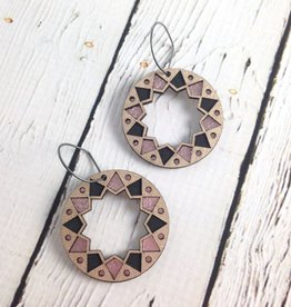 Platinum Wood Benhaddhou Earrings